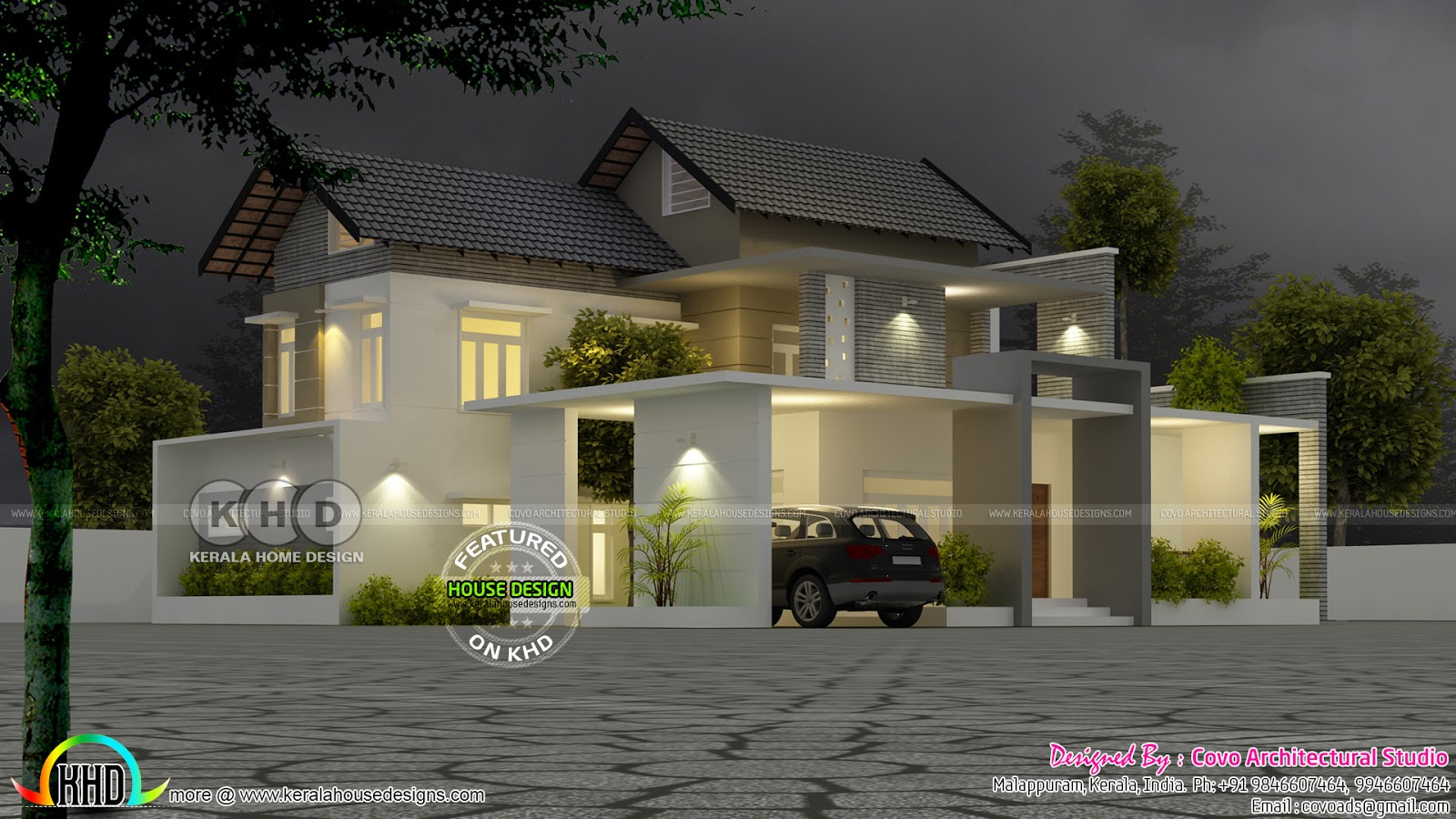 Fusion home architecture kerala kerala home design and for Architecture design kerala house