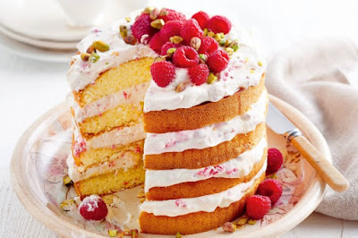 Raspberry honey dessert cake recipe
