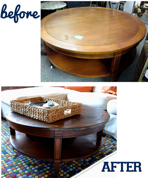 Furniture Revival of an antique table