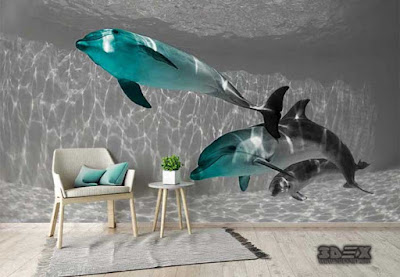 New 3D wallpaper images for living room walls