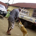 Video: Nigerian man angrily beats a 'Goat' for eating his Jollof rice