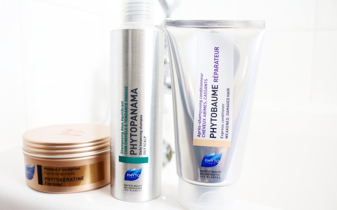Phyto Phytopanama Daily Balancing Shampoo, Phytobaume Express Repair Conditioner & Phytokeratine Extreme Mask