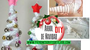 Cómo hacer un árbol de Navidad decorativo a crochet / Tutorial DIY