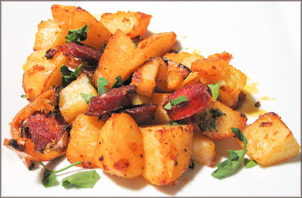 Potatoes and Chorizo