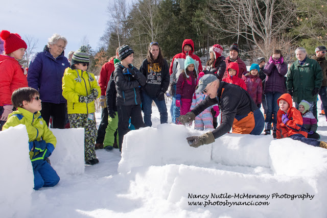 Huge Turnout for Montshire's Annual Igloo Build, Can It