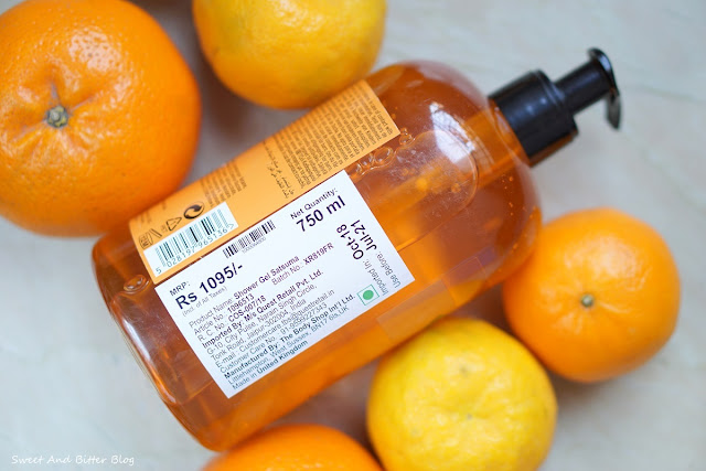The Body Shop Satsuma Jumbo Shower Gel Review Price in India