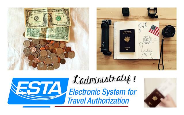 L'administratif : les dollars, le formulaire ESTA, le passeport