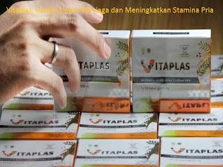 Vitaplas adalah Produk obat herbal yang berkhasiat untuk menjaga dan meningkatkan stamina pria karena mengandung Ekstrak bahan alam berkualitas seperti Pimpinella alpina Radix extract, Eurycoma longifolia Radix extract, maupun bahan alam  lainnya.