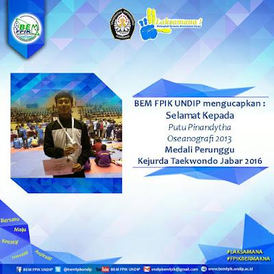 Mahasiswa FPIK Undip Putu Pinandytha