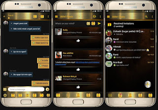 BBM Mod Black Gold v3.1.0.13 Apk - Gold Series & Simple