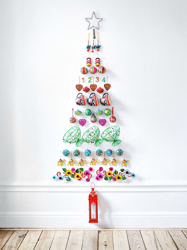 Resultado de imagen de arboles navidad pared