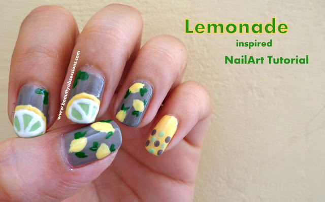 Lemonade Inspired NailArt Tutorial..