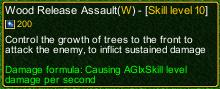 naruto castle defense 6.0 Madara Wood Release Assault detail