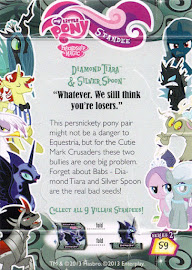 My Little Pony Diamond Tiara & Silver Spoon Series 2 Trading Card