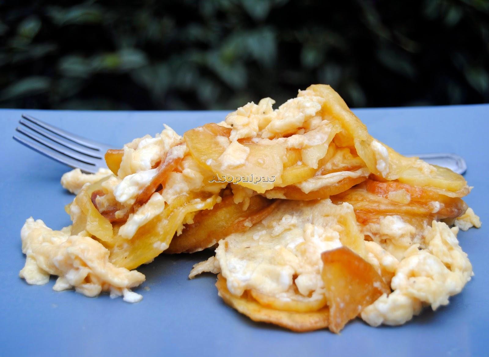 Patatas Revueltas con Huevo