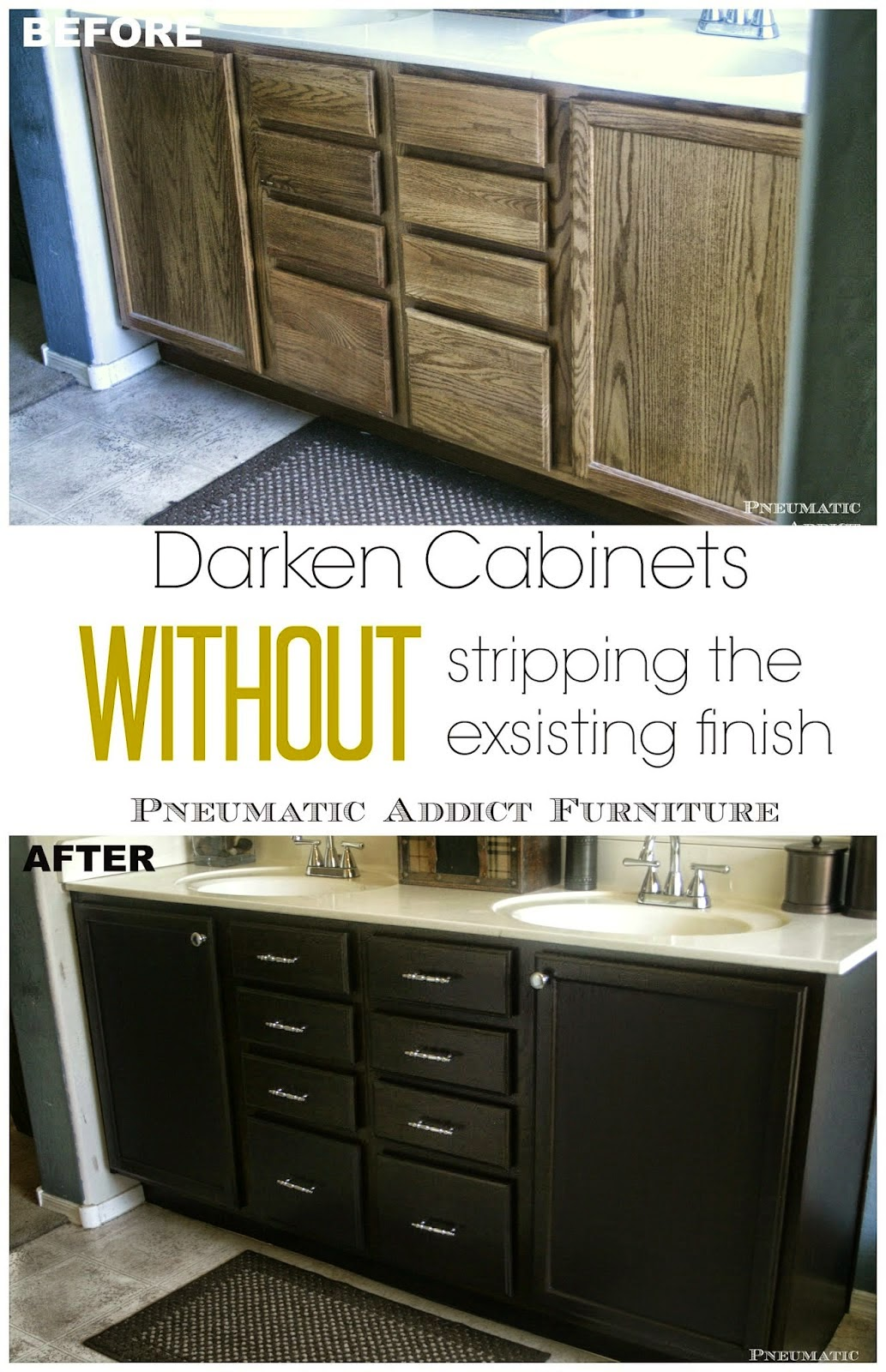 Darken cabinets without stripping