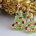 More Beaded Christmas Tree Earrings Tutorials