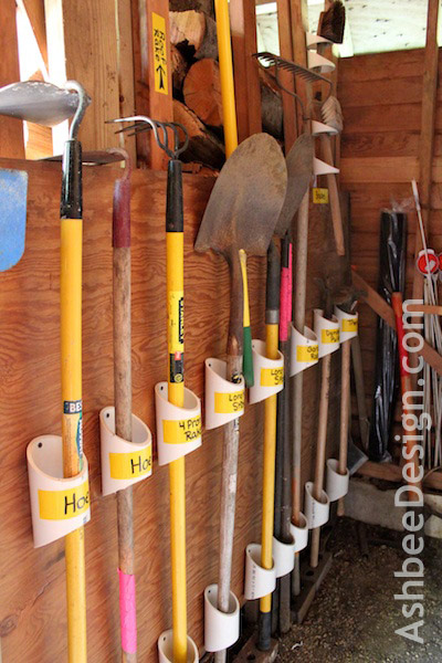 Ashbee Design Organizing Garden Tools With PVC