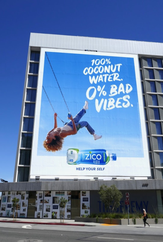 Giant Zico Coconut Water zero Bad Vibes billboard