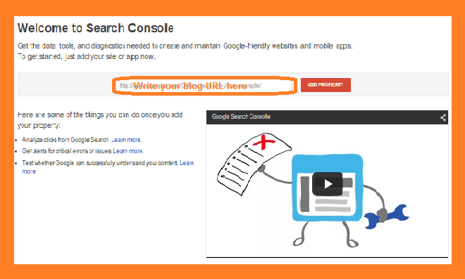 How to add blog to Google webmaster and verify blog ownership