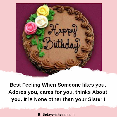 Birthday Msg For sister