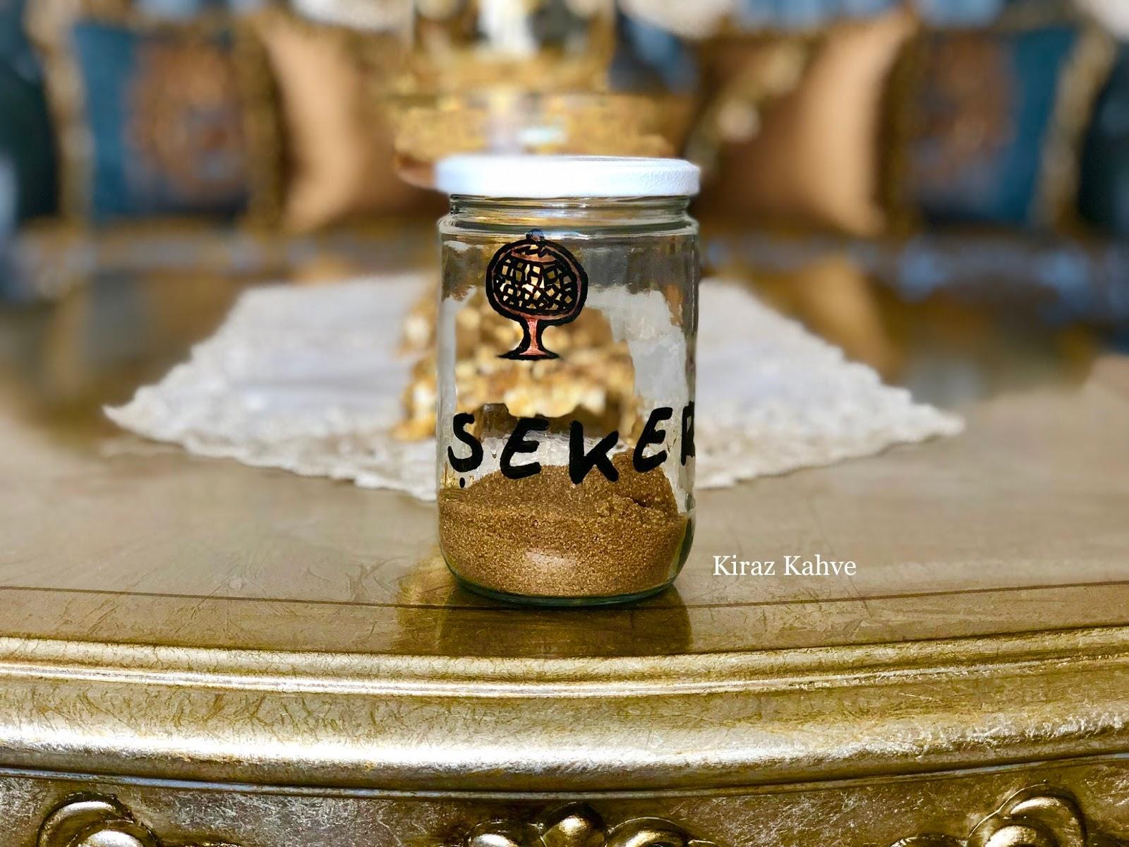KAVANOZ BOYAMA şekerlik yapımı