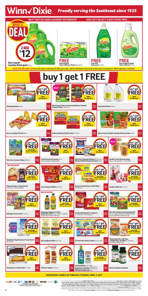 Winn Dixie Weekly Ad March 29 – April 4, 2017   Weekly Ad Deals