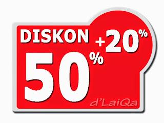 Diskon Bertingkat 50% + 20%