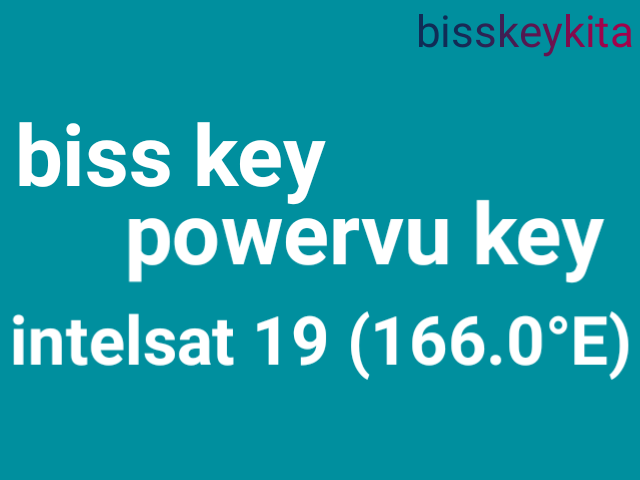Kumpulan Bisskey dan PowerVU Key satellit Intelsat 19 (166.0°E)