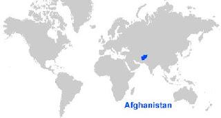Gambar Peta letak Afghanistan
