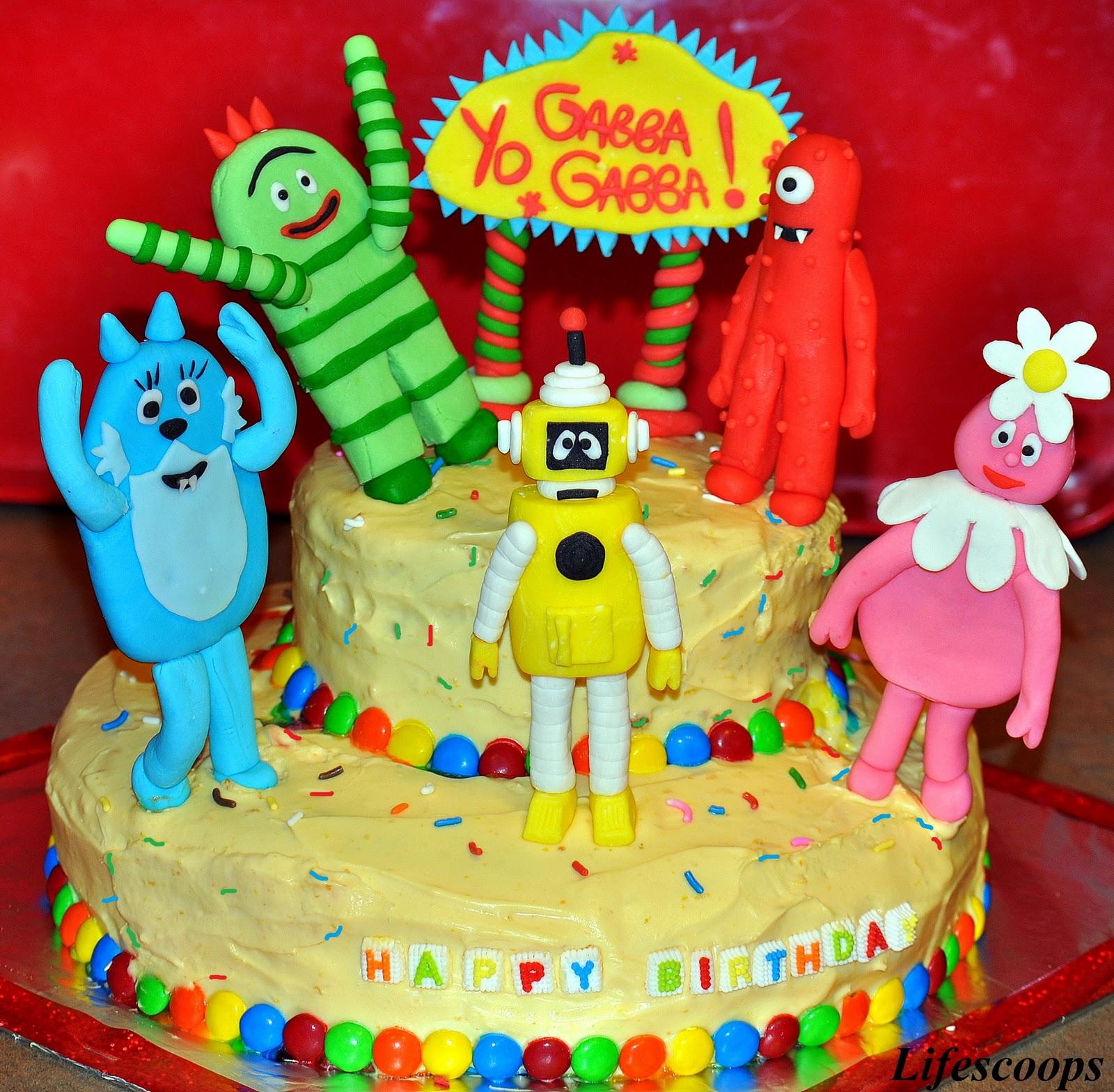 Life Scoops Yo Gabba Gabba Cake For Mikaela S 2nd
