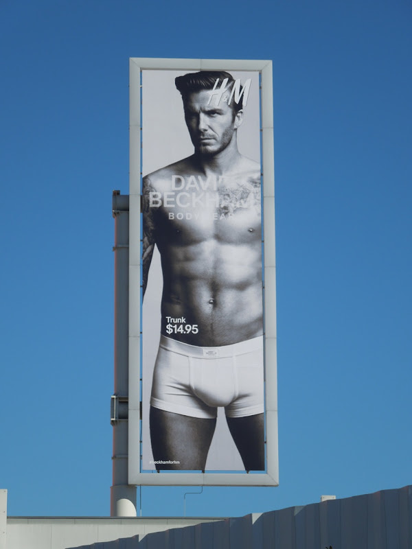 David Beckham underwear billboard