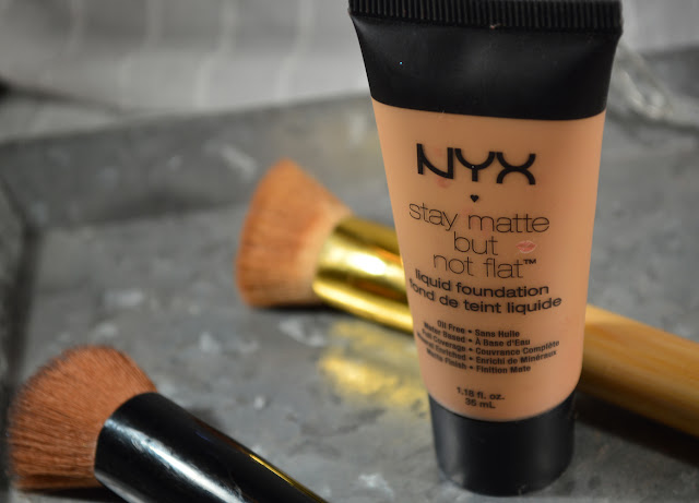 A picture if nyx foundation stay matte but not flat and zoeva 104 flatbuki brush