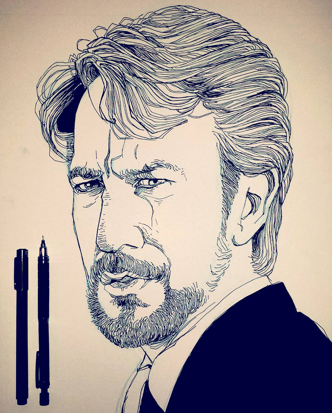 Die Hard Alan Rickman Drawing