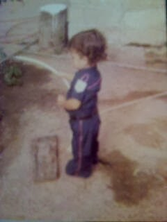 Papá cuando era de la edad de su hijo