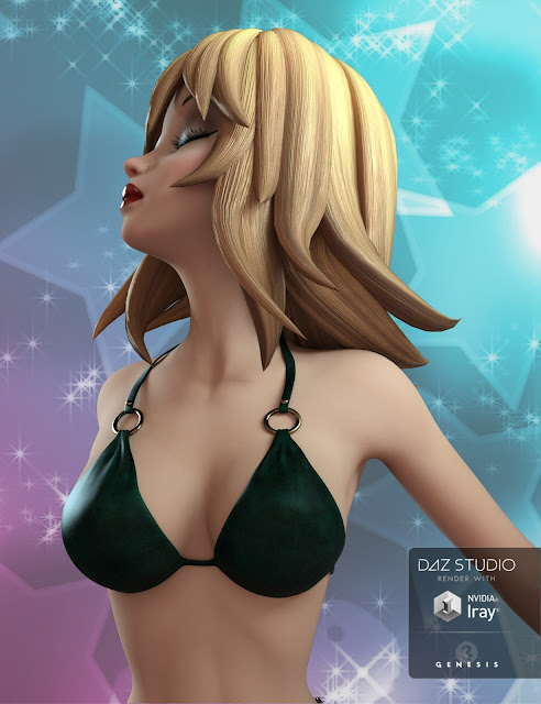 Annie Hair for Genesis 3 Female