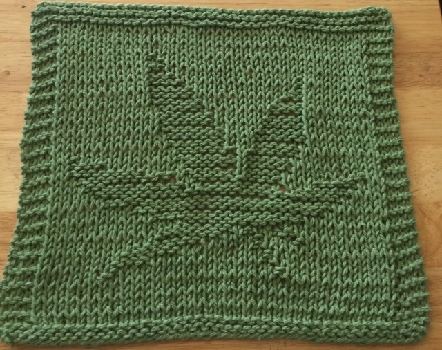 Digknitty Designs Cannabis Pot Leaf Knit Dishcloth Pattern