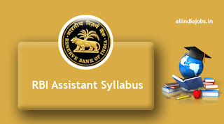 RBI Assistant Syllabus