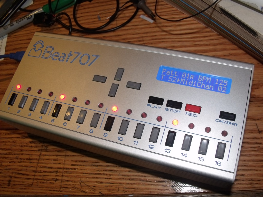 MATRIXSYNTH: Beat707 Arduino Drum Sequencer Review by Altitude