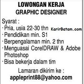 Lowongan Kerja Graphic Designer