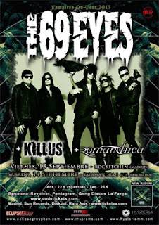 Conciertos de The 69 Eyes en Madrid y Barcelona
