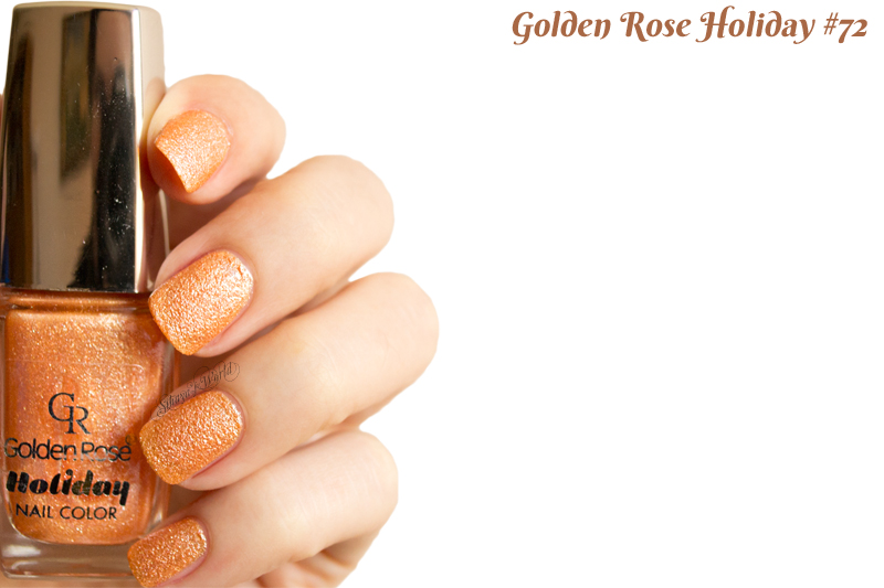 Golden Rose Holiday 72 swatch