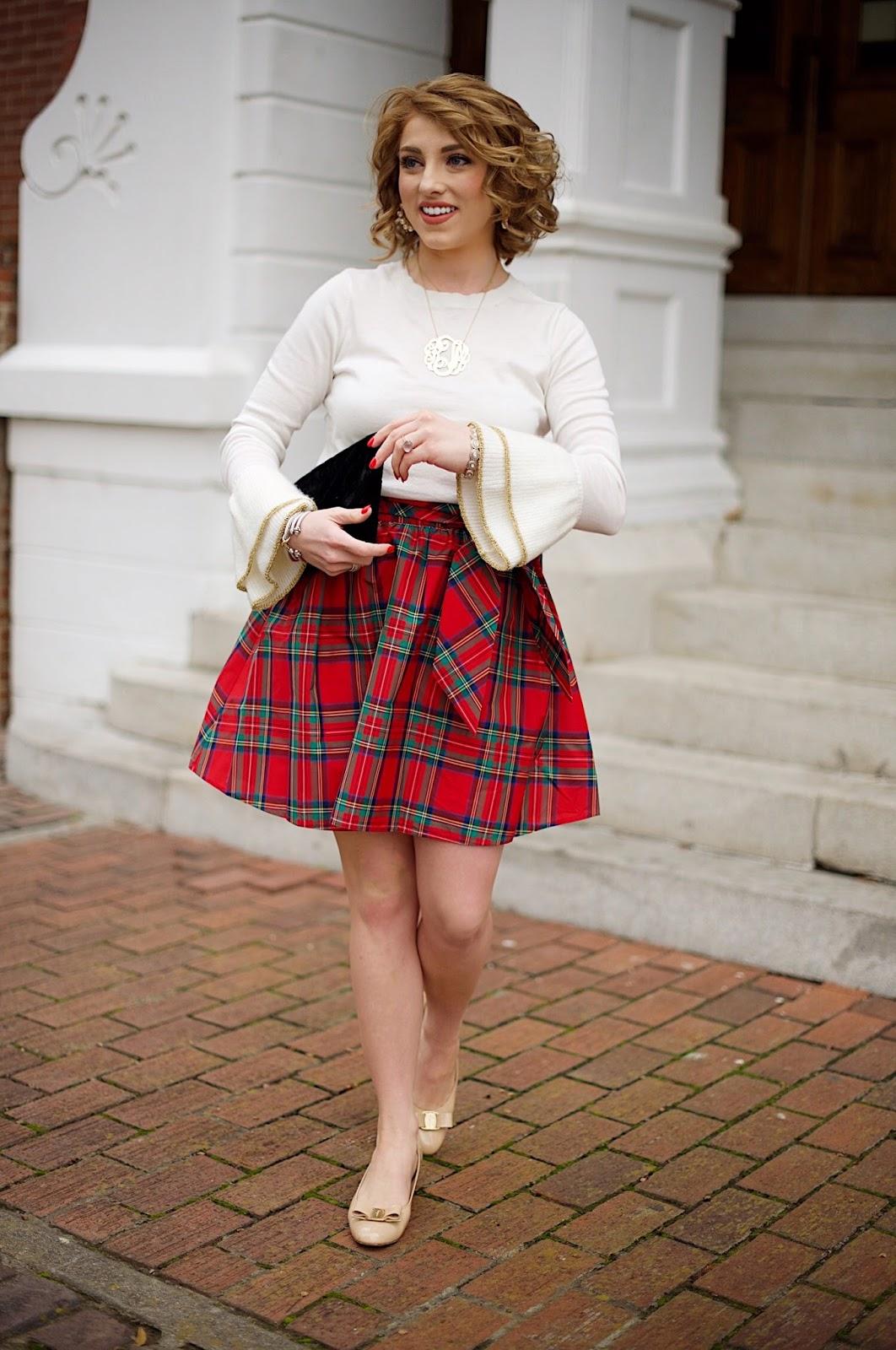 Vineyard Vines Jolly Plaid Party Skirt - Something Delightful Blog