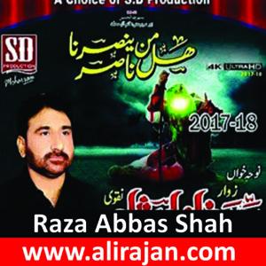 Raza Abbas Shah ~ Nohay 2017-18