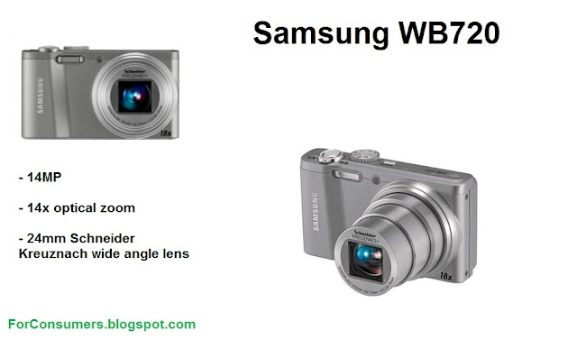 Samsung WB720 14MP compact digital camera price and review