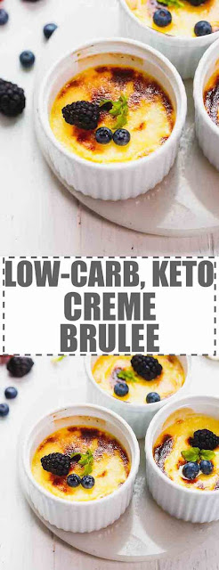 KETO, LOW-CARB CREME BRULEE #ketorecipes #dinner #lowcarb