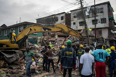 8 Confirmed Dead, 15 Rescued As Building Collapses In Lagos Island 4