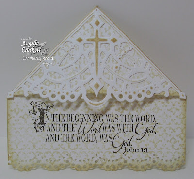 "ODBD ""Decorative Corners"" Dies, Vintage Border Background, The Word of God, Card Designer Angie Crockett"
