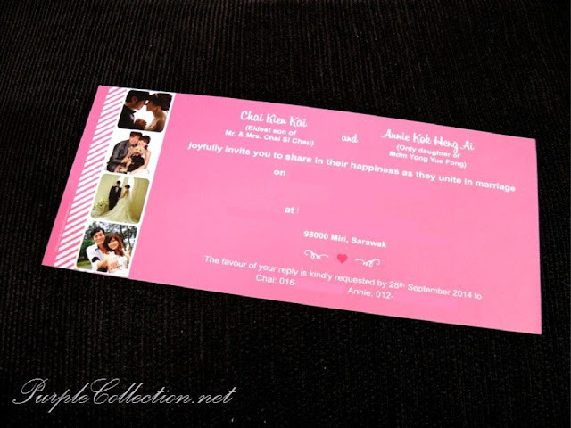 wedding card, print, printing, malaysia, selangor, fancy, sarawak, photo strip, instagram, kuala lumpur, sabah, brunei, singapore, johor bahru, penang, perak, wedding photo, pink, sweet, unique, personalized, personalised, matt lamination, art card 260g, kad kahwin, cetak, murah, online, buy, sell, purchase, sale, purple cards, purple collection, envelope 80g, pearl, metallic, 120g