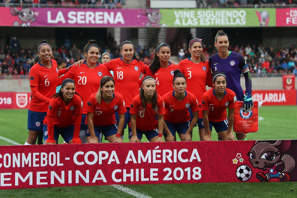 Formación de selección de Chile ante Colombia, Copa América Femenina 2018, 6 de abril